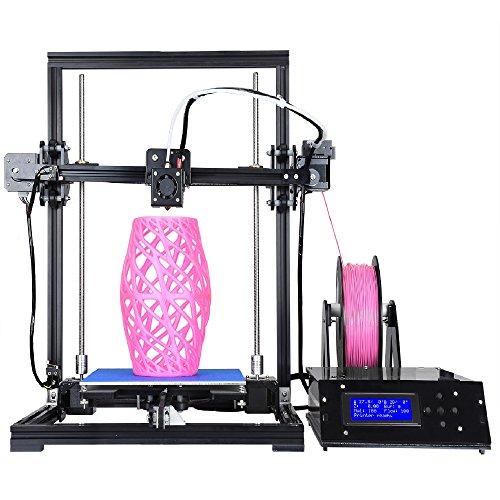 "ALUNAR 3D Printer Prusa I3 Kit Self Assembly Large Aluminum DIY Desktop FDM 3D Printing Machine 8.66""x 8.66""x 11.8"" Alunar Direct"