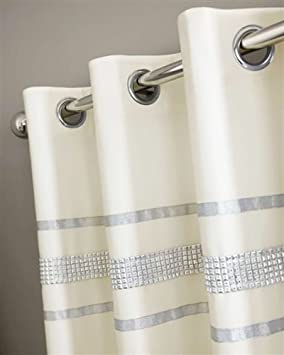 Curtains Ideas cream bedding and curtains : CHAMPAGNE CREAM & SILVER DIAMANTE BLING BEDDING AND/OR CURTAINS ...
