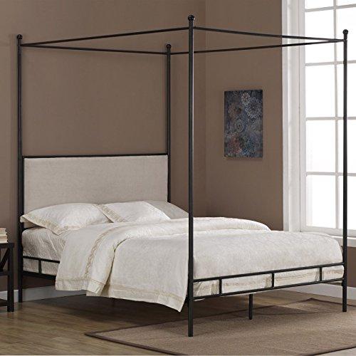 Metro Shop Lauren Upholstered Queen-size Canopy Bed (Upholstered Canopy Bed)