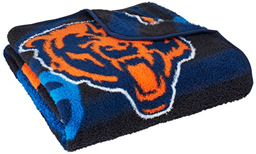 NFL Chicago Bears 50-Inch-by-60-Inch Sherpa on Sherpa Throw Blanket
