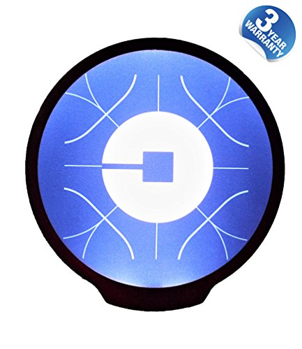 Uber Light Sign Logo Sticker Decal Reflective Bright Glowing Wireless Removable New UBER Sign Logo Decal Flashing Car Cycle Sticker White Light UBER Sign Decal with Diameter of 4.6¡¡¯ for UBER Driver -