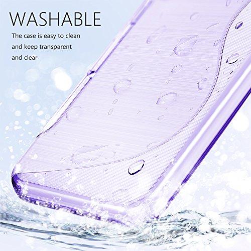 SLEO Funda para Samsung Galaxy S9 SM-G960 Slim Fit TPU Carcasa de Parachoques Case Traslúcido Suave con Absorción de Impactos y Resistente a los Arañazos para Samsung Galaxy S9 SM-G960 - Rosa Púrpura