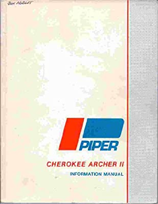 Pilot's Operating Handbook Piper Cherokee Archer II