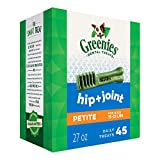 Greenies Hip and Joint Petite Dental Dog Chews - 27 Ounces 45 Treats