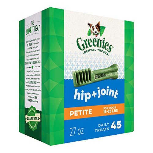 Greenies Hip and Joint Petite Dental Dog Chews - 27 Ounces 45 Treats by Greenies