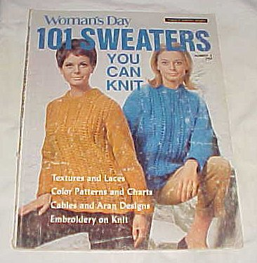 Womans Day 101 Sweaters - Woman's Day 101 Sweaters You Can Knit (Number 2) 1969