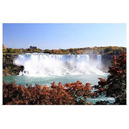 GREATBIGCANVAS Poster Print Entitled American Falls at Niagara Falls. View South to Buffalo and The USA from Canada. by 18