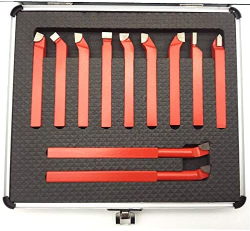 38 Piece 3//8 Premium C6 Carbide Tipped Lathe Tool BIT Set BRAZED Single Point