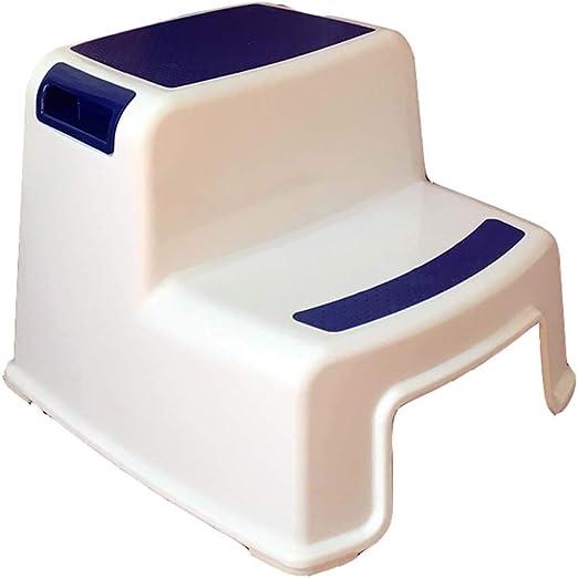 Mal Taburetes Safety 1st Double Step Stool, Taburete de plástico para niños reposapiés baño Escalera Antideslizante escalón escalón Taburete escalón 6 Color Opcional (Color : Azul Oscuro): Amazon.es: Hogar