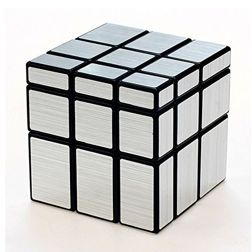TANCH Dysmorphism Mirror Surface Speed Magic Cube 3X3 Puzzle for Children & Adults Silver ()