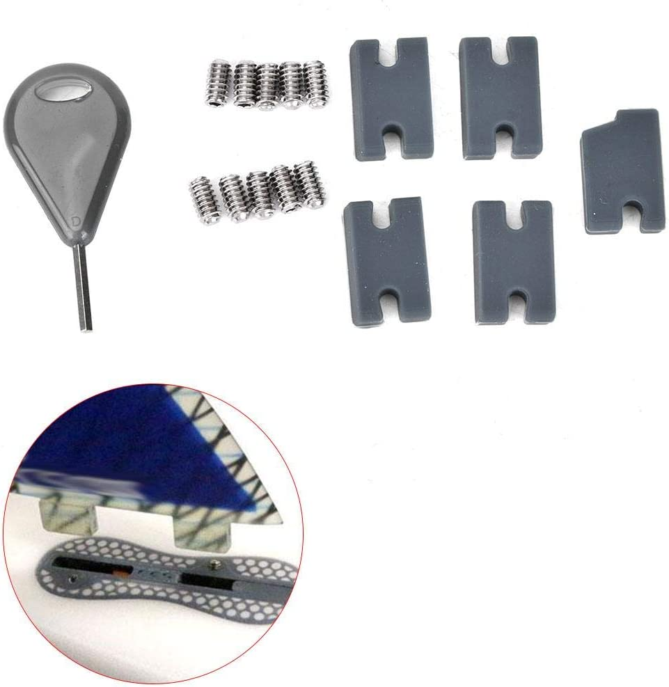 T best Board fin fill surfboard FCS II tab fin compatibility infill part kit with grub screws