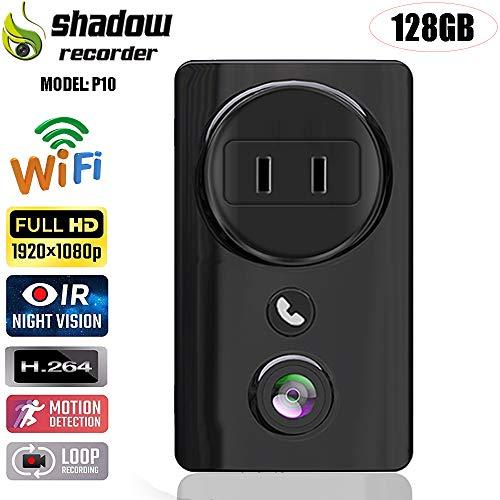 Wi-Fi Indoor Smart Camera-WiFi Hidden Camera-WiFi Mini Camera-1080P WiFi IP Camera- Two-Way Audio-Mini Spy Camera-Motion Tracker-Support Video Cloud Storage-Compatible with Alexa