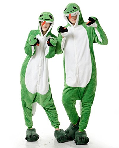 [Aoibox Unisex Adult Animal Cosplay Onesie Pajamas Costume Sleepwear Size L?Snake] (Pajamas Dance Costumes)