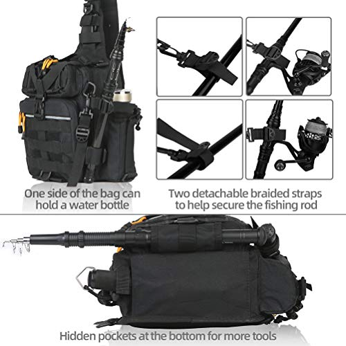 BLISSWILL Fishing Backpack Outdoor Tackle Bag