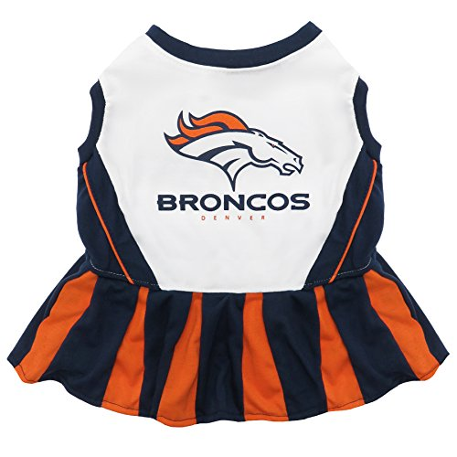 Denver Broncos NFL Cheerleader Dress For Dogs - Size Medium]()