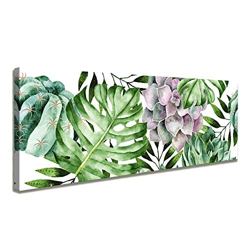 youkuart Canvas Wall Art Simple Life Green Leaf Painting Wall Art Decor 16
