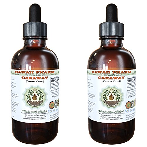 Caraway Alcohol-FREE Liquid Extract, Organic Caraway (Carum carvi) Dried Fruit Glycerite 2x4 oz by HawaiiPharm (Image #4)