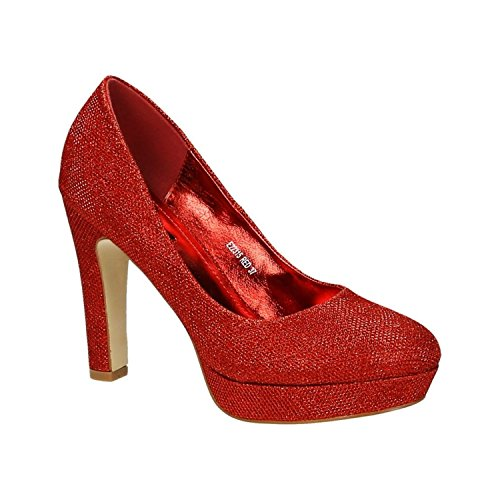 Femme Compensées of Shoes Rouge King Chaussures qwSIZ0
