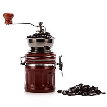 Molinillo de cafe Molinillo de café de estilo vintage Máquina de moler a mano de especias Máquina de café molino de molino de fresas de rodillos: Amazon.es: ...