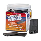 : Wobble Wedge - Soft Black - Restaurant Table Shims - 30 Piece Jar