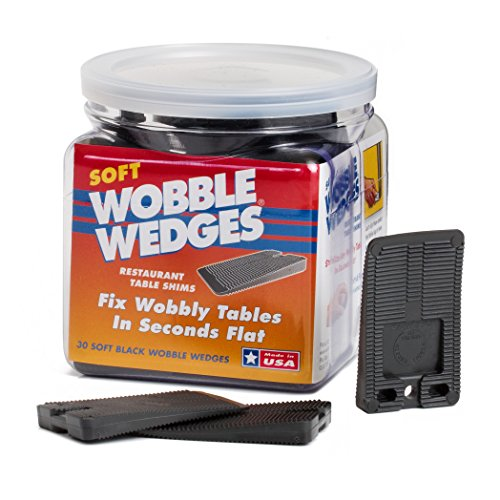 Wobble Wedge Black Restaurant Table product image