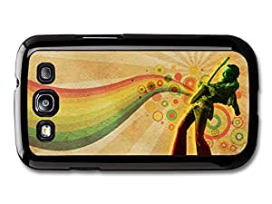 Jimi Hendrix Playing Guitar with Music Waves Hippie and Psychedelic case for Samsung Galaxy S3
