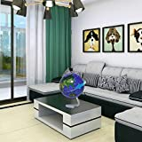 Tmalltide 4'' Self-Rotating Geography World Globe World Map Ornaments Home Office Decor