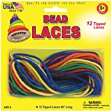 Pepperell Creative Beading Cords, 45-Inch, Assorted Colors, 12 Per Package