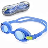 Kids Child Swim Goggles, UShake Anti-fog UV Protection Soft Silicone Frame Swimming Goggles with Clear Lenses, Easy to Use for Kids Children and Early Teens (ages 4-12)