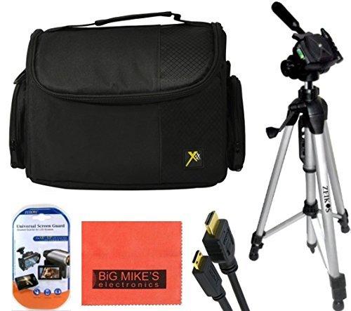 57 Inch Tripod + Deluxe Soft Medium Camcorder Case For Canon Digital EOS Rebel SL1, T1i, T2i, T3, T3i, T4i, T5, T5i, T6i, T6s, EOS 60D, EOS 70D, 50D, 40D, 30D, EOS 5D, EOS 5Ds, EOS 5D Mark III, EOS 6D, EOS 7D, EOS 7D Mark II, EOS-M Digital SLR Cameras