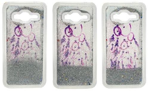 FUN CASE Traumfänger Dreamcatcher für Apple iPhone 7 4,7 Handy Cover Hülle Case Glitzer Sterne Flüssig Sternenstaub TPU (silber)