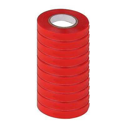 10 Rolls Red Sturdy Stretch Tie Tape 82ft Plant Garden In/Outdoor : Garden & Outdoor