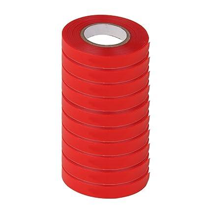 Rashi E-Commerce 10 Rolls Red Sturdy Stretch Tie Tape 82ft