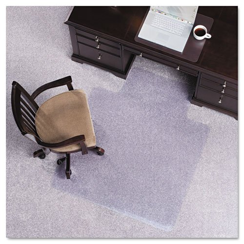 ES Robbins – Anchormat Chair Mat for Plush Pile Carpets, Clear