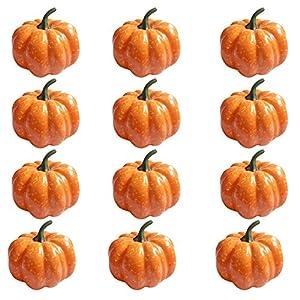 ShellKingdom Artificial Mini Pumpkin for Decoration, Fall Pumpkin for Home//Wedding Thanksgiving/Halloween/Party Decoration 12 PCS 2
