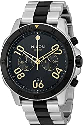 Nixon Men's 'Ranger Chrono Silver Black Gold' Quartz Stainless Steel Casual Watch (Model: A5492194)