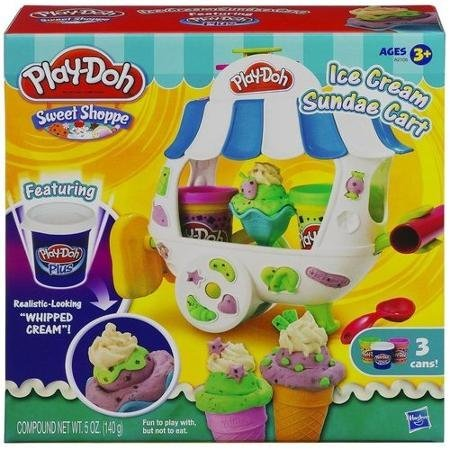 Realistic-Looking Shoppe Ice Cream Sundae Cart Play Set, Multicolor (Play Doh Ice Cream Set compare prices)