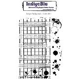 IndigoBlu Cling Mounted Stamp, 5 by 8-Inch, Ledger Background by IndigoBlu