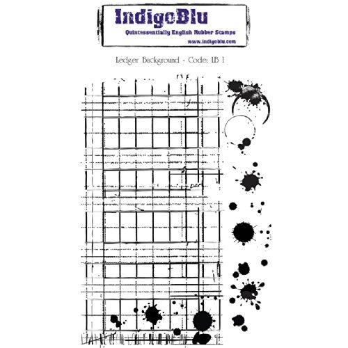 (IndigoBlu Cling Mounted Stamp, 5 by 8-Inch, Ledger Background by IndigoBlu )