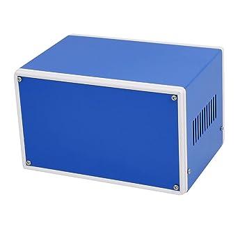 sourcing map Caja de conexiones de proyecto electrónico de metal Caja de seguridad azul 177 x 128 x 109 mm: Amazon.es: Industria, empresas y ciencia
