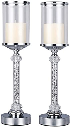 Candlestick Holders Candelabra Stand Europe Style Metal Crystal Diamond Candlestick Candle Holder Coffee Dining Table Wedding Christmas Halloween