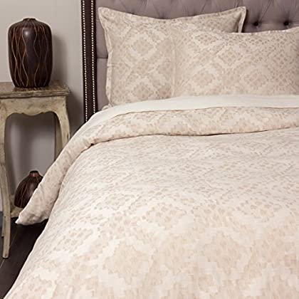 Image of Amity Home Kat Duvet Cover Set, King, Taupe