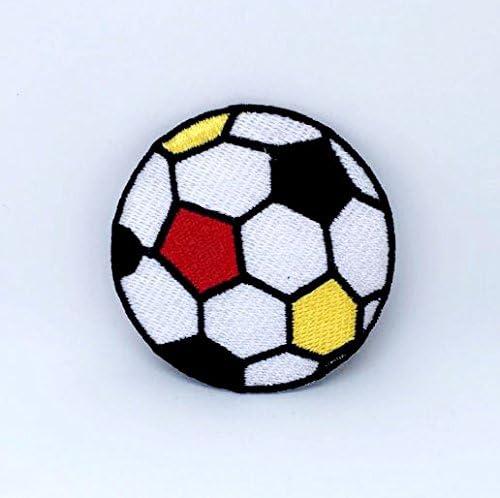 Parche bordado de balón de fútbol, colorido, para planchar, coser ...