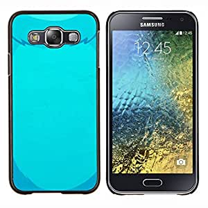 Caucho caso de Shell duro de la cubierta de accesorios de protección BY RAYDREAMMM - Samsung Galaxy E5 E500 - oso azul pieles dibujo oso mascota vientre