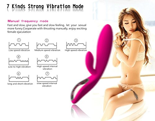 Fantastic Zone Vibrator,Voice Control Waterproof Magnetic USB Rechargeable 7-frequency Vibration G-spot Massager Female Masturbation Toy Rose Red
