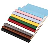"""Arts & Crafts : 10 pcs 8"""" x 13"""" (20cm x 34cm) Solid Color Fabric PU Leather Fabric Litchi Fabric Thick Canvas Back Craft DIY Craft Assorted Colours (10 Color Litchi)"""