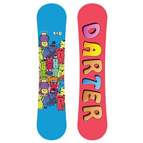Darter Cats Design All Mountain Freestyle Kids Twin Tips Snowboard 130cm With Anti-Friction UV
