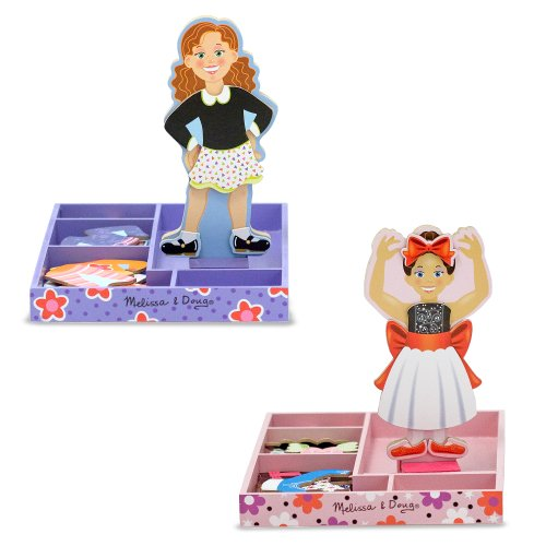 Ballerina Magnetic Dress Up Doll (Melissa & Doug Bundle #1 Magnetic Dress-Up, 2-Pack)