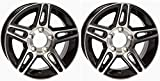2-Pack Aluminum Trailer Rims Wheels 5 Lug 13 in. Pinnacle Black Style