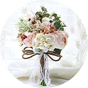 can't be satisfied Romantic Wedding Bouquet Country Style Artificial Wedding Flowers Wedding Accessories Brooch Bridal Bouquets 49
